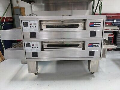 Middleby Marshall 570 Double Deck Nat Gas Conveyor Oven W90 Day Parts Warranty