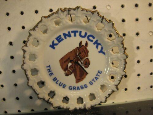 Kentucky Blue-Grass State Thoroughbred Horse Souvenir Plate