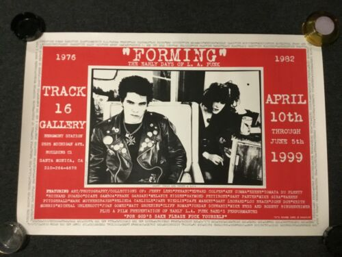 VINTAGE FORMING THE EARLY DAYS OF LA PUNK SILK SCREENED POSTER PRINT GERMS X