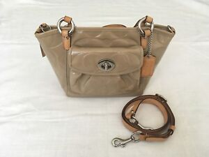 Authentic Coach Purse - Patent Leather Tan/Camel Bag