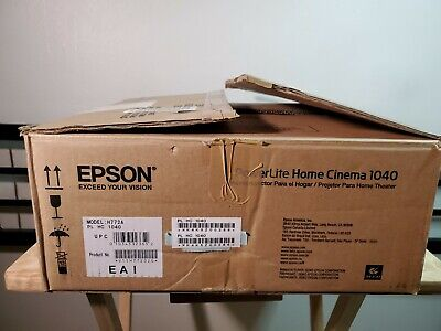 Epson PowerLite Home Cinema 1040 3-LCD 1080P Projector - Remote & Power Cable