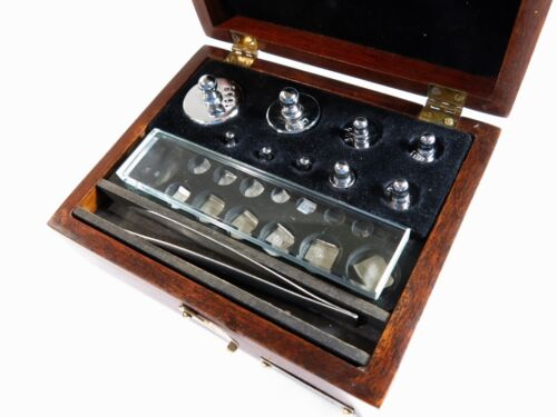 Antique SARGENT Laboratory/Apothecary Metric Weight Set — Mahogany Box