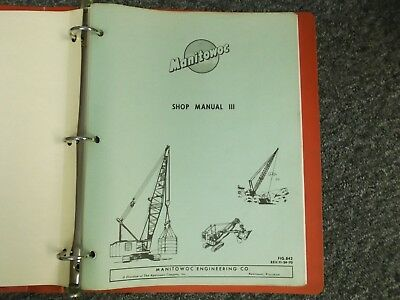 Manitowoc 4500 Dragline 4600 Vicons Crawler Crane Factory Parts Catalog Manual