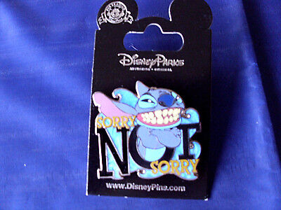 Disney   Stitch   Sorry Not Sorry   New On Card Character Trading Pin
