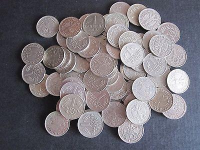 100 x 1 DM Münzen zum Sammeln oder für alte Automaten, Geldspielgeräte, Flipper