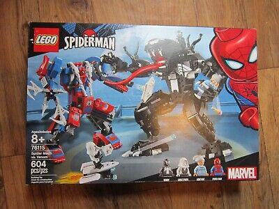 Lego 76115 ~ SpiderMan ~ Spider Mech vs Venom ~ 604 Pcs ~ 4 Mini Figs ~ NEW!