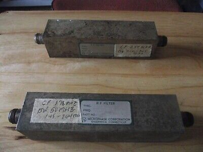 Microphase Corporation R F Band Pass Filter