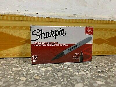 Sharpie Premium Permanent Fine Point Marker Black 30001 12 Packs