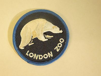 Polar Bear Patch - London Zoo Polar Bear Embroidered Iron On Sewing Patch