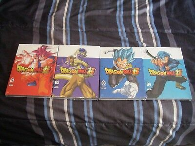 Dragon Ball Super Parts 1, 2, 3 and 4 Episodes 1-52 DVD... NEW! FREE SHIPPING!!