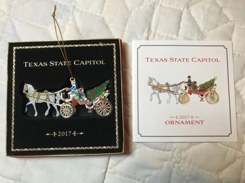 Texas State Capitol 2017 Christmas Ornament Horse And Carriage