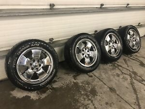 "Set Of 20"" GM Chrome Truck Wheels & Tires !"