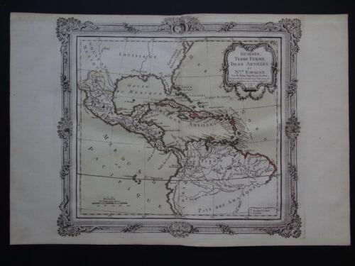 1766 Brion Atlas map Central America Caribbean Isles Antilles  Nouvelle Espagne
