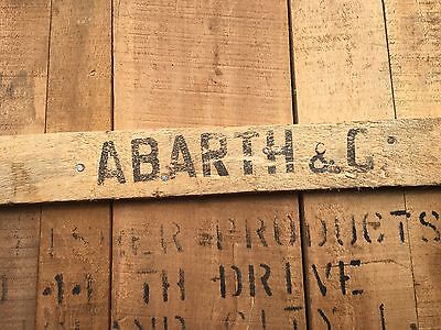 1960's Abarth Wood Crate Wall Display Table Automobilia exhaust