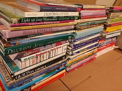 Book Craft (Lot of 20 Hobby Craft Design Home Decorating Quilt Knit Sewing Books RANDOM*MIX)