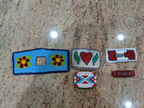 Authentic Native American beadwork 5 pieces