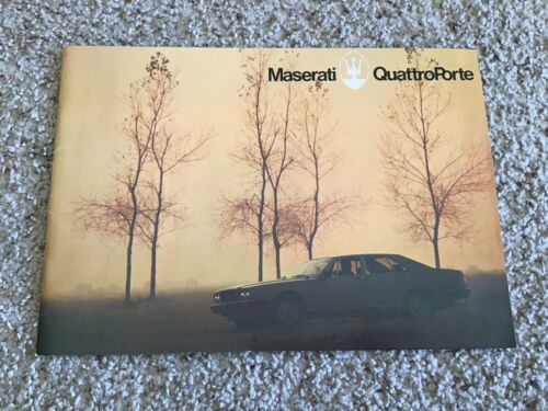 1970s  Maserati QuattroPorte original dealership color sales catalogue.