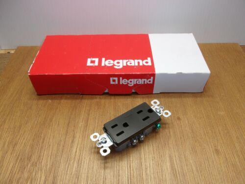 (Qty.10) Pass & Seymour Legrand 885TRBK Black Decorator Receptacle 15A 125V