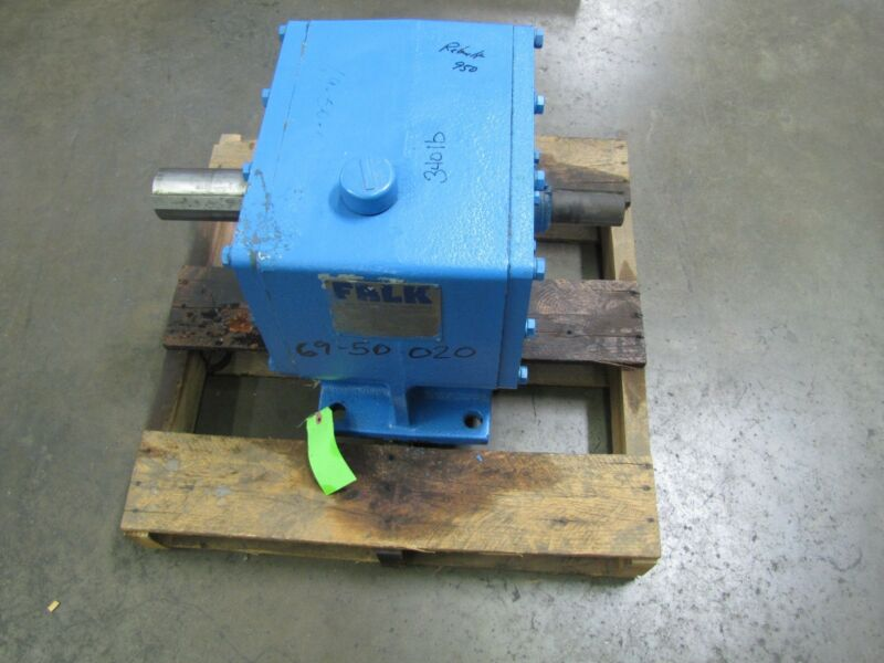 FALK 15HP 15 HP 1050FZ2A 7.584 ENCLOSED GEARBOX WORM GEAR SPEED REDUCER REBUILT