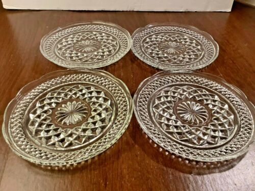 Vintage Dessert Plates Anchor Hocking Wexford Set of 4