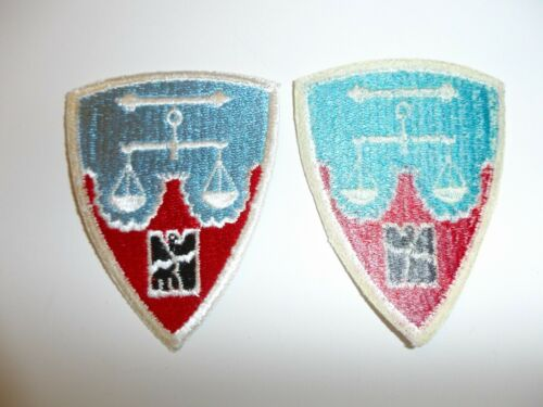 e3862 Post WW 2 US Army Nuremberg District patch occupation US made 70