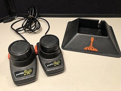 Atari 2600 Joystick Stick Stand & Two Paddle Controllers