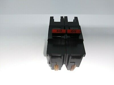 Fpe Federal Pacific Na240 2 Pole 40 Amp Stab-lok Circuit Breaker Red Hdle Flaw