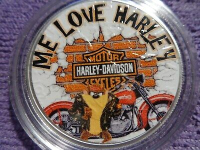 "2020 Silver Eagle Colorized ""ME LOVE HARLEY TAZ"" POP 50"