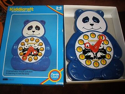 Vintage 1982 Kiddicraft Panda Clock for ages 3-6 years old in original box](Games For 3 Years Old)