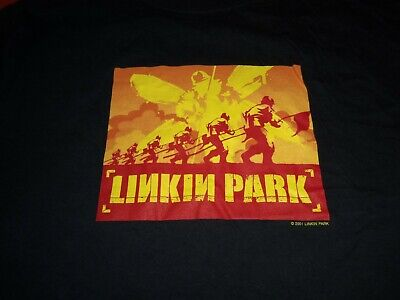 Vintage 2001 Linkin Park - Hybrid Theory Medium Concert Long Sleeve Shirt