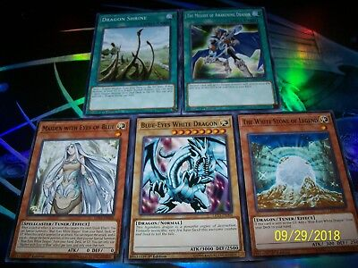 5 Card Blue-Eyes White Dragon Deck Builder LED3 Yu-Gi-Oh!
