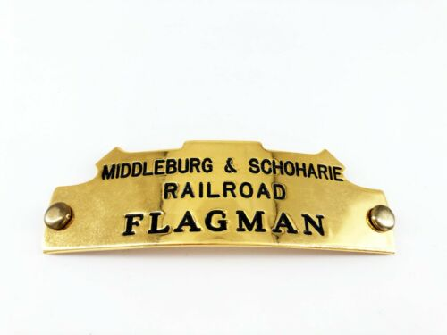 "RARE Vintage M&S Middleburgh Schoharie Railroad ""Flagman"" Metal Badge New York"