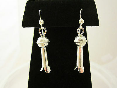 Squash Blossom Earrings - Sterling Silver - A Taste of the Southwest