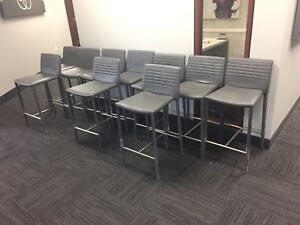 Grey Counter Height Stools