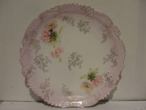 """12"""" UNMARKED FLORAL SERVING PLATE"""