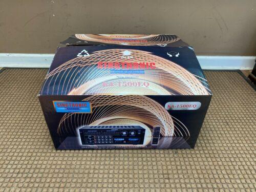 Singtronic KA-1500EQ Professional 2000W Mixing Amplifier; HDMI & EQ & Bluetooth