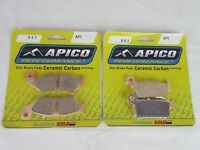 Yamaha Yzf426 00-02 Motocross Apico Front & Rear Brake Pads 041 003 - apico - ebay.co.uk