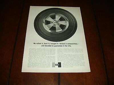 1965 HURST FORGED MAG WHEEL ***ORIGINAL VINTAGE AD***