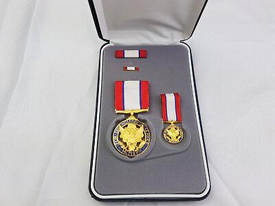 Army Distinguished Service Medal Original US Orden im Etui SONDERSET Ribbon Pin
