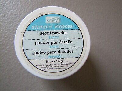 Stampin up Emboss Detail Powder Black Embossing Powder lot of 1