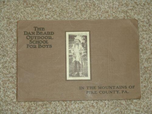 1930 Dan Beard Outdoor School booklet for 1931 season