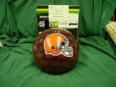 8 Bowling Ball Otbb Viz-a-ball Rare 2010 Nfl Cleveland Browns