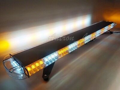 55 In Led Warn Strobe Emergency Truck Wrecker Response Amber White Light Bar Us