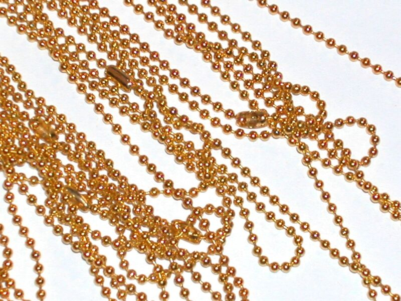 """1pc beautiful fashion Gold plated chain Necklaces clasp Findings 19"""" 1.5mm"""