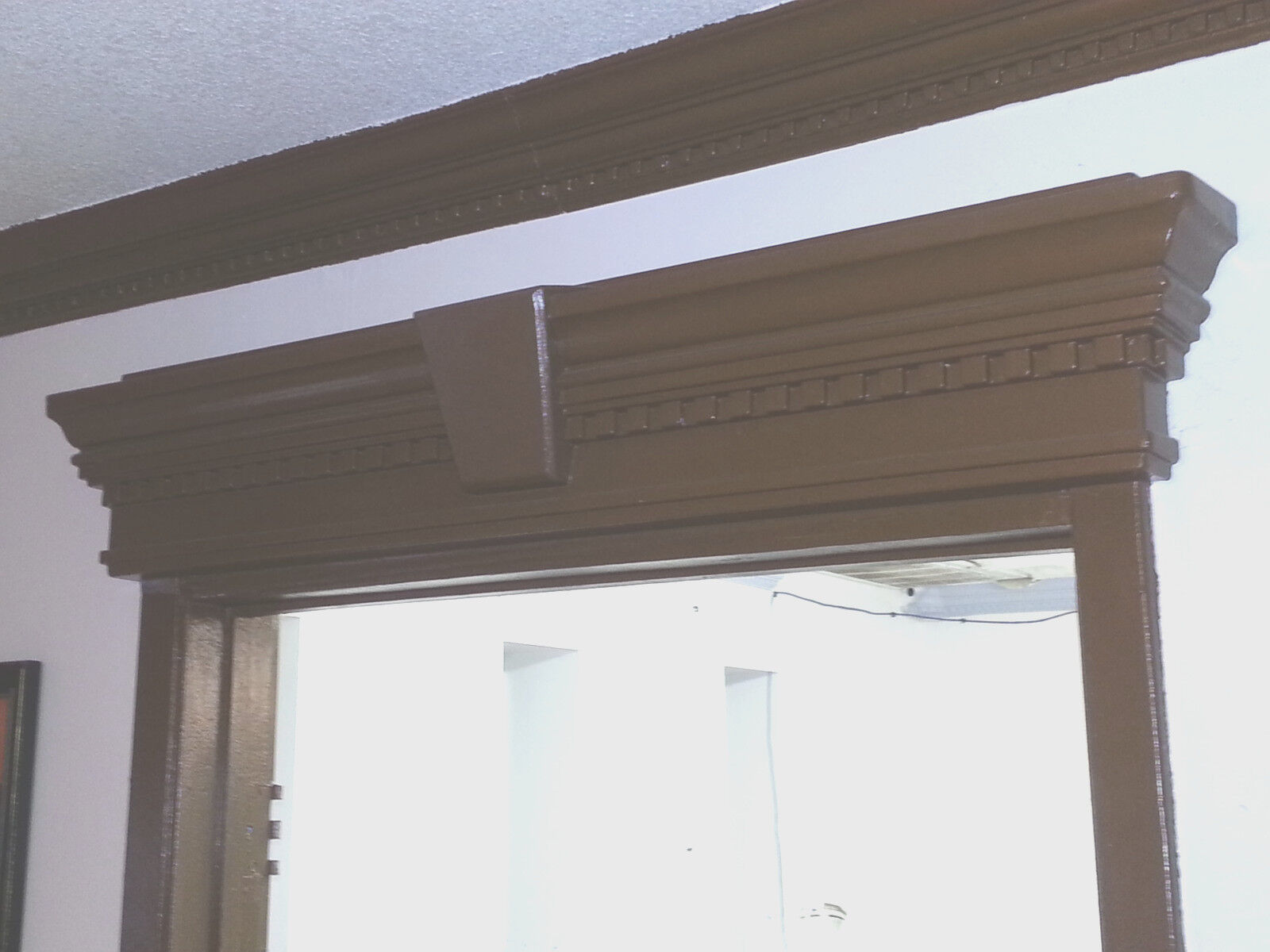 "41/"" Pediment door window wall plaque ornament frame lace lacey design 5281"