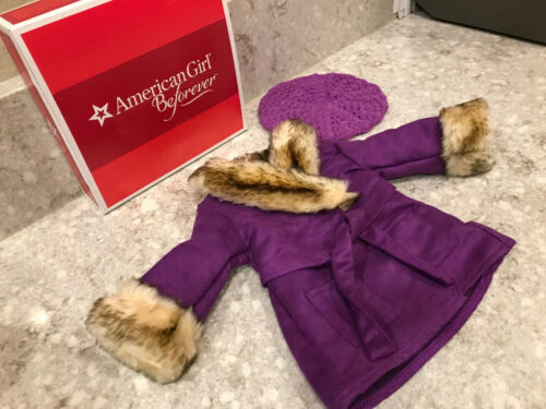 NIB Retired American Girl Doll Julie Winter Coat With Hat Outfit