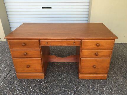 Wooden desk Golden Beach Caloundra Area Preview