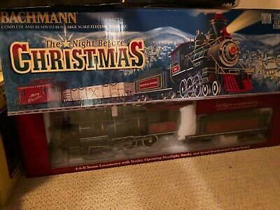 "NEW Bachmann ""Night Before Christmas"" Large Scale Train Set"