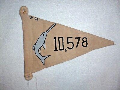 WWII GERMAN U BOAT U-106 PENNANT 10,578