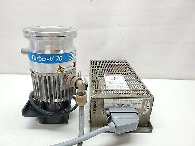 Varian Turbo-v 70 Turbomolecular High Vacuum Turbo Pump W Tv70 Controller